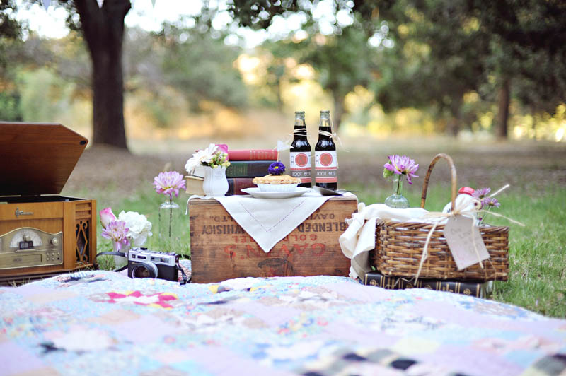 Evening picnic wedding