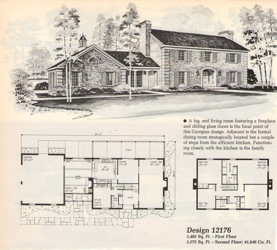 Old House Plans Dutch Colonial Revival Traditional Kit